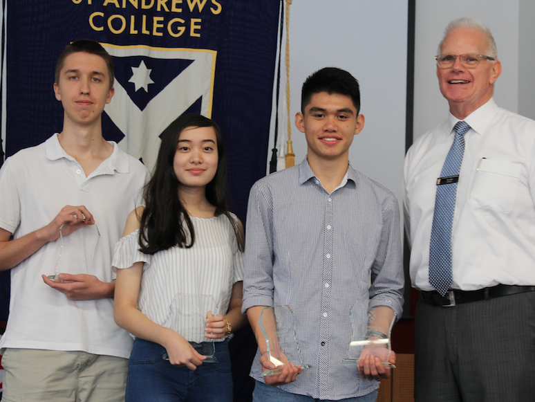 Nic and Top Three ATAR Students